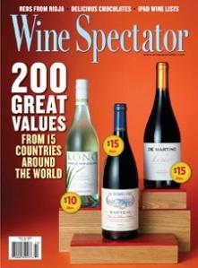 Wine Spectator Os 200 melhores rótulos custo benefício do mundo